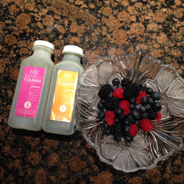 TWO JESSICA JUICES WITH RASPBERRIES, BLACKBERRIES AND BLUEBERRIES