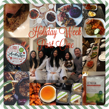 Holiday Week Part 1 My Winter Break Bucket List, the WORST Thing about Whole Foods, Reviews, Stuffing my Face, Healthy Eve Feast + Christmas Presents